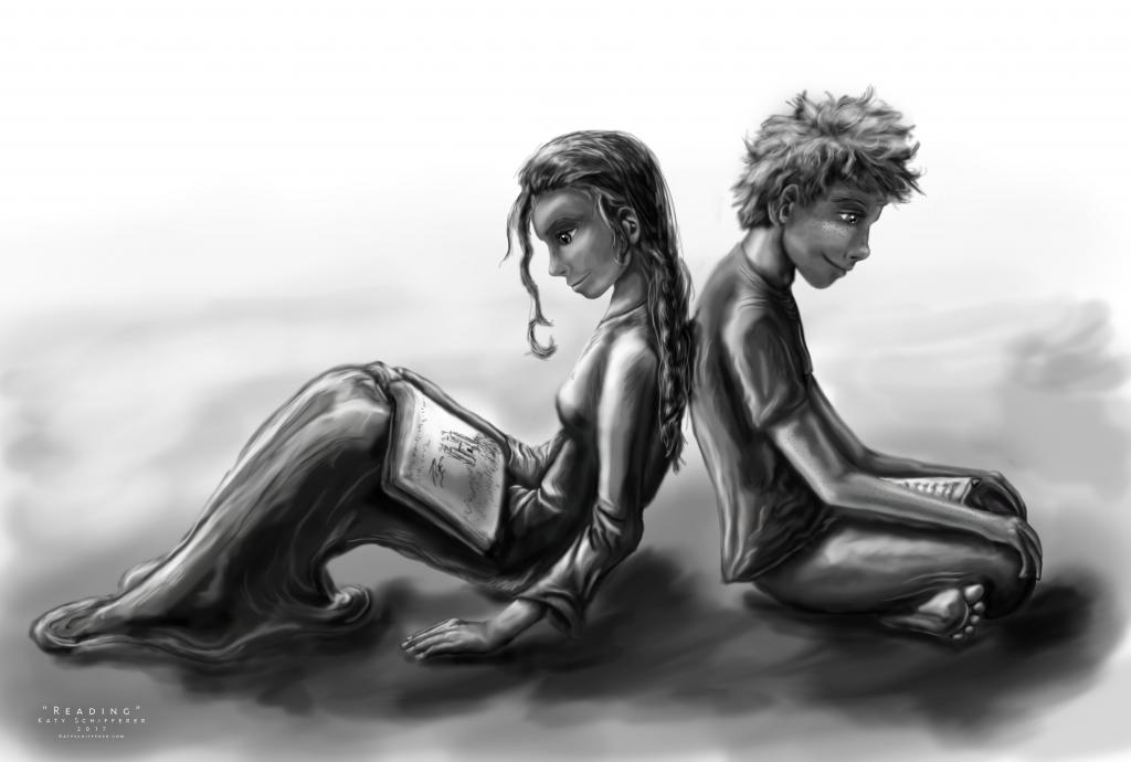 """Reading"" by Katy Schifferer"