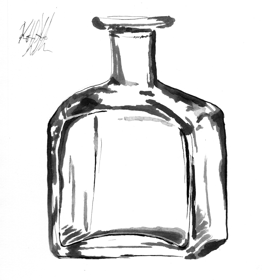 #inktober #inktober2018 day 18: bottle. Glass bottle.