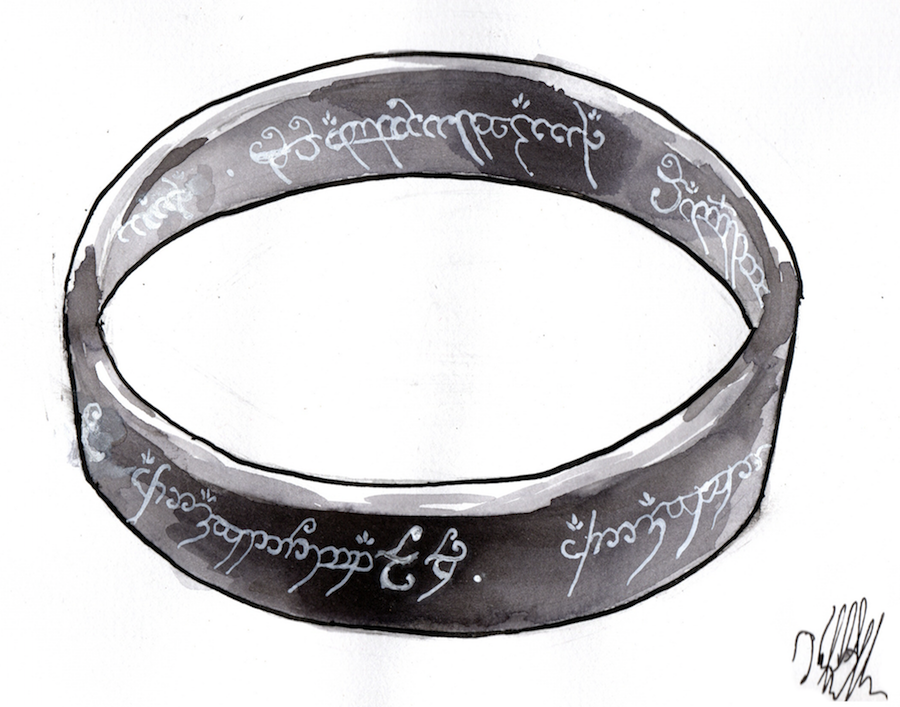 #Inktober #Inktober 2018 Day 9: Precious. The One Ring from Lord of the Rings
