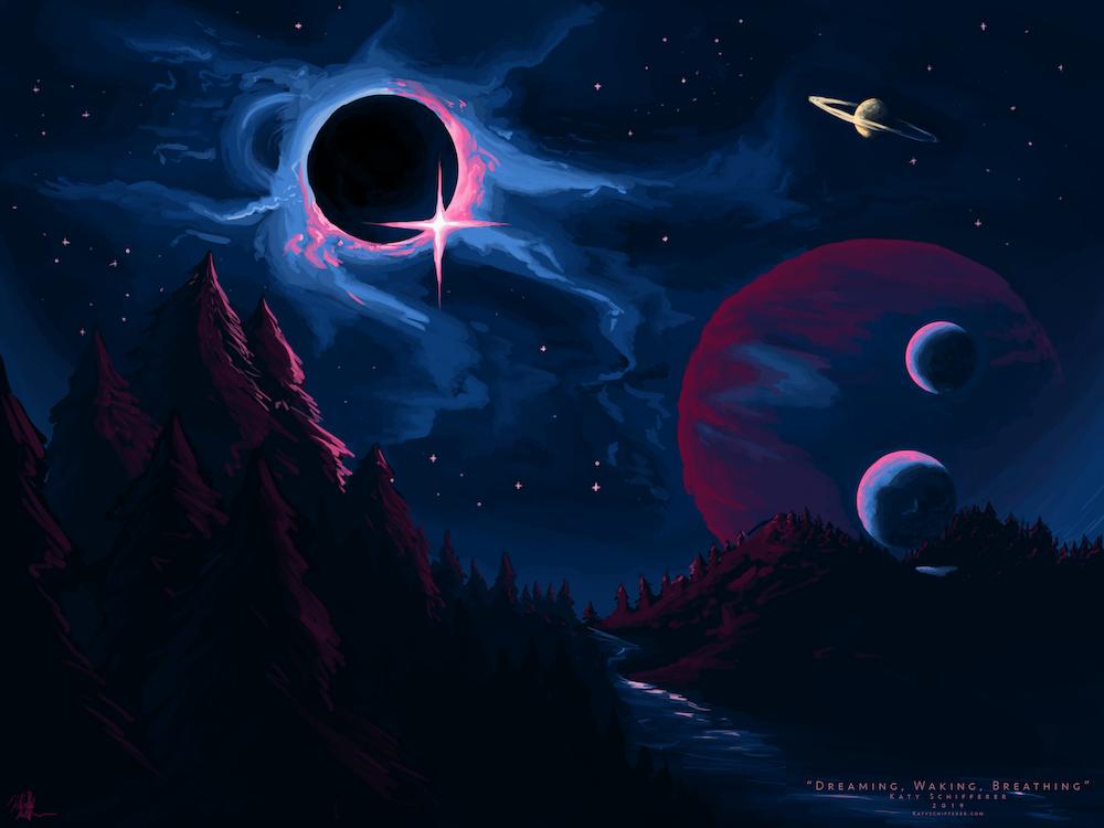 "Dreaming, Waking, Breathing""   Digital Illustration – Katy"